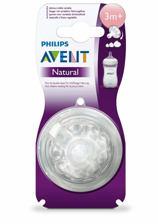Phillips Avent Natural Teats- 3M+