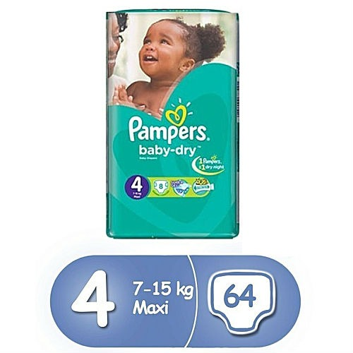 Pampers Size 4 Maxi 64 count