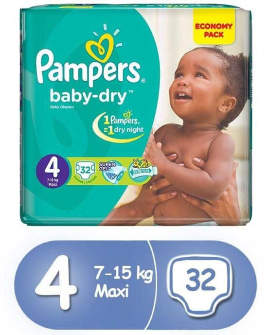 Pampers Size 4 Maxi 32 Count