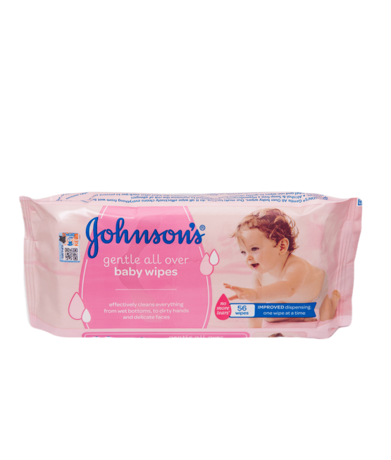 Johnson & Johnson Baby Wipes Gentle All Over 56 Count