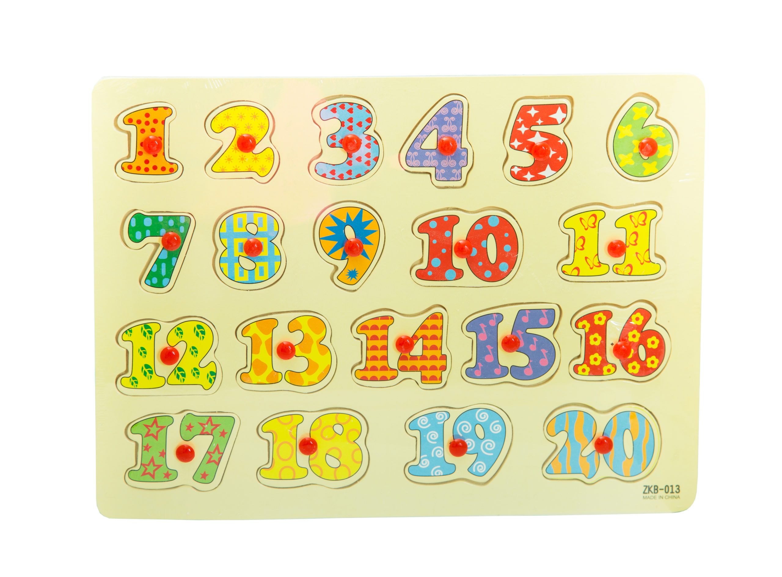 Number Wooden Puzzles