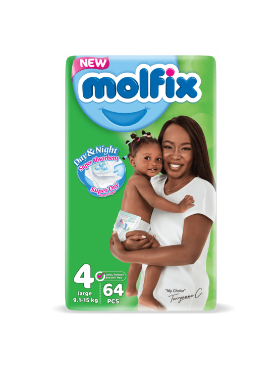 Molfix Day&Night Maxi Size 4 – 64 Count