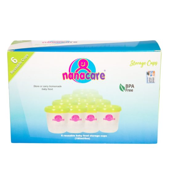 Nanacare Storage Cups – Lime Green