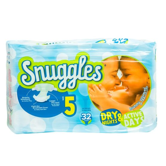 Snuggles Diapers Junior Size 5- 32 Count