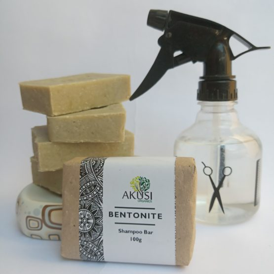 Akusi Organics Bentonite Clay Shampoo Bar- 100g