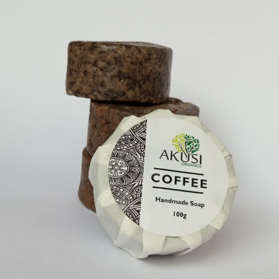 Akusi Organic Coffee Scrub Soap -100g
