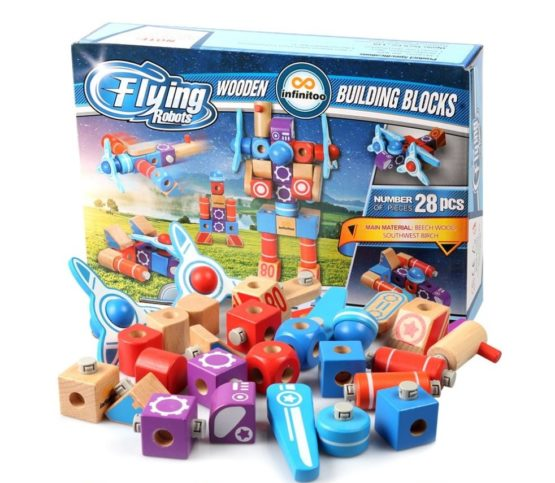 Infinitoo Wooden Building Blocks