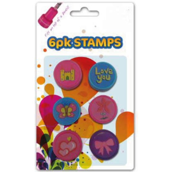 6 Pack Toy Stamps