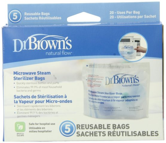 Dr. Brown's Microwave Steam Bags- 5 in 1 Box