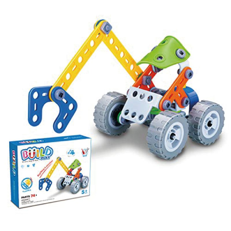 Build And Play 74 Pcs Toy Set