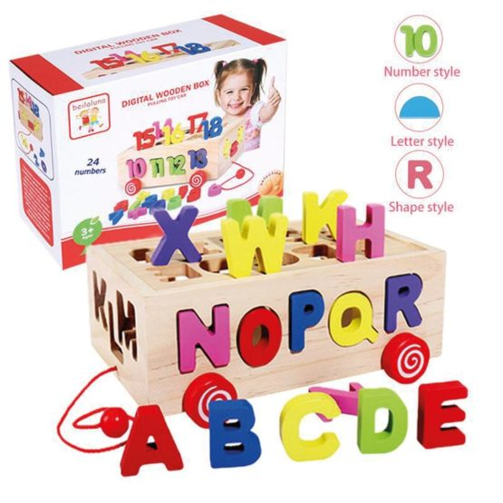 Wooden Numbers Play Box