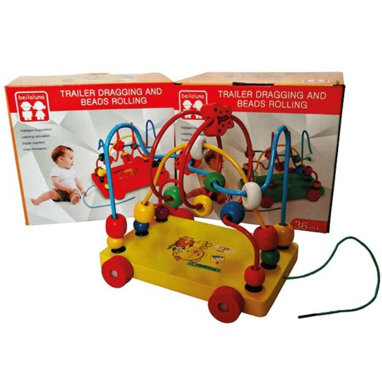 Wooden Train Dragging Toy
