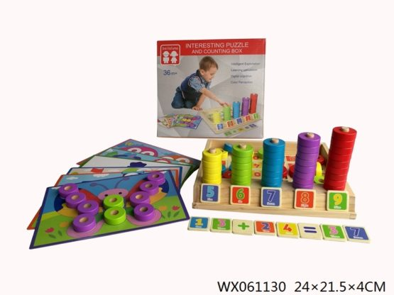 Wooden Puzzles and Counting Game