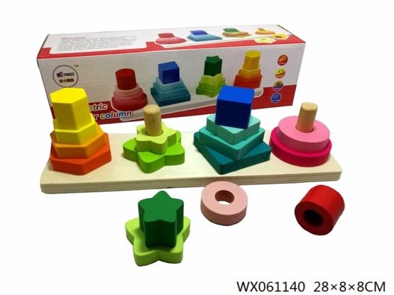Wooden Shapes and Stacking Board
