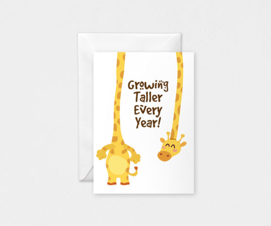 Growing Taller Every Year: A6 Card