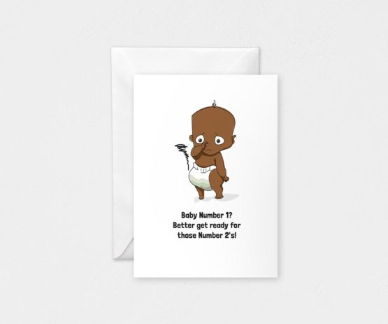 Baby Number 1: A5 Card