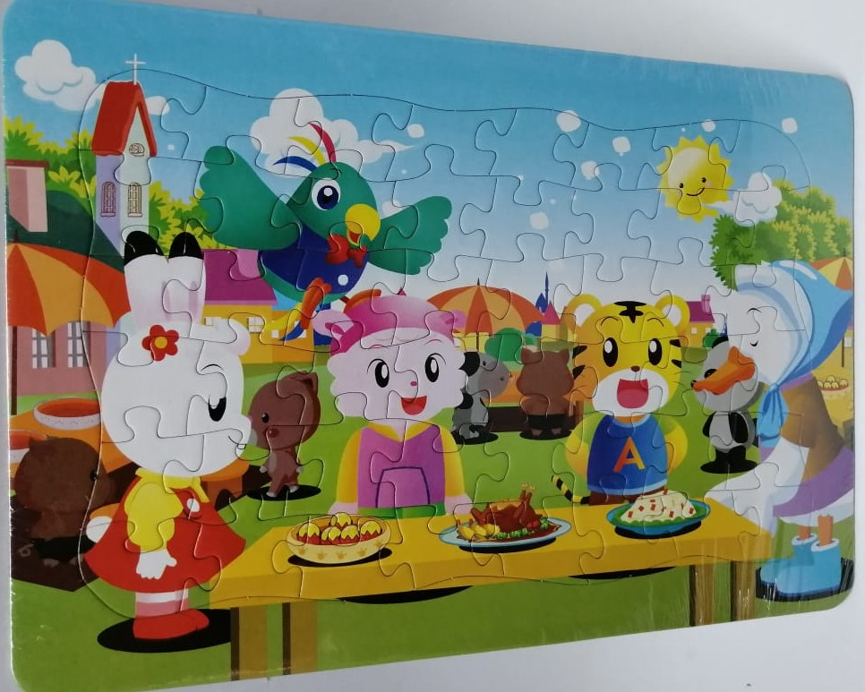 Jigsaw Puzzle Animal Party