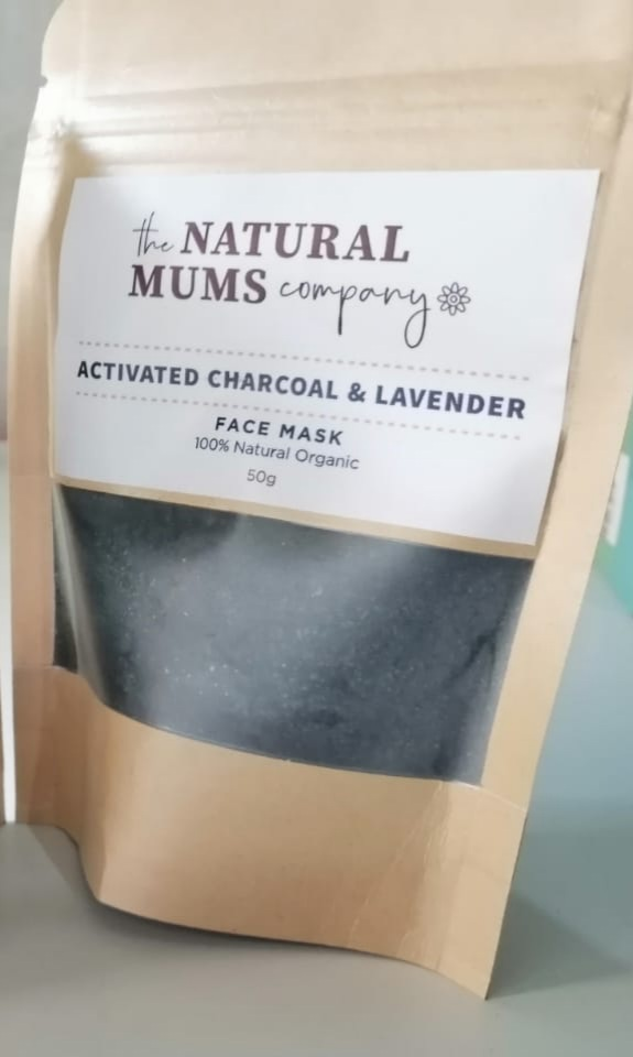 The Natural Mums Company Activated Charcoal and Lavender Face Mask