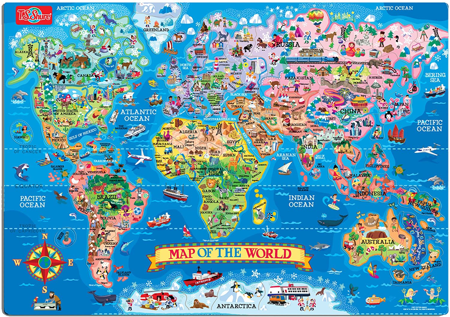 Map of the World Puzzle (200 PCS)